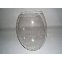 Vaso De Vidro Bojudo - Decorativo Transparente