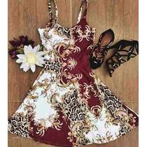 Vestido Curto Estampa Oriental Neoprene Lindíssimo
