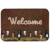 Esteira Bem-vinda Com Vacas Cozinha Ou Banho Mat 20x30 Sb305