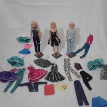 Roupas Para Boneca Barbie Frozen Kit 10 Roupinhas Promoção