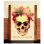 Quadro Frida Khalo Em Madeira De Demolição Caveira Mexicana