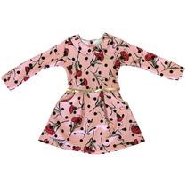 Vestido Infantil Feminino Com Cinta Inverno Boca Grande-9527