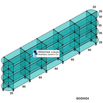 Gôndula De Centro Em Vidro 3,4mts Gcov024 Conectivos Preto