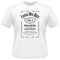 Camiseta Lana Del Rey Jack Daniels Frente Verso Camisa
