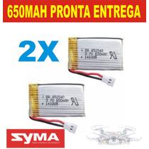 Bateria 2 X 650mah 3,7v Syma X5c X5 X5fw X5sw