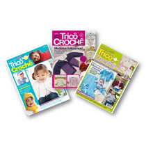 Lote De 3 Revistas Trico Crochê Exoval Do Bebê - Artesanato