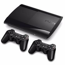 Playstation 3 Super Slim Semi-novo+2 Controles +jogos + Hdmi