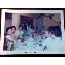 Foto Antiga- Família Reunida A Mesa- Julho 1969