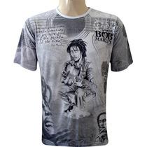 Camisa Indiana Bob Marley Violão Hippie Reggae Tenda Roots