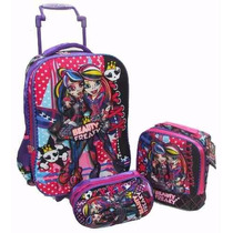 Kit Mochila Monster High Beauty Freaky 3d Completa