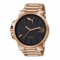 Relógio Puma Ultrasize Rosé Em Aço - Frete Grátis
