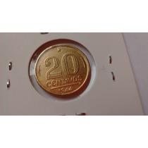 20 Centavos 1944 Sem Sigla Moeda Escassa Bronze Aluminio
