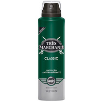 Desodorante Aerosol Tres Marchand Classic Com 150 Ml