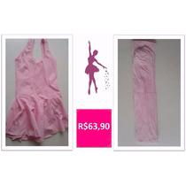 Roupa De Ballet Infantil - Kit Collant Com Saia - Rosa