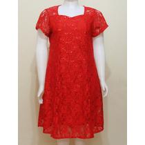 Vestido Plus Size De Festa Curto Preto Vermelho 50 52