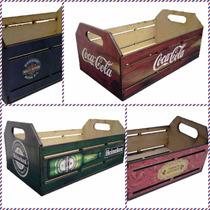 Caixote Adesivado Heineken Coca Cola Harley Tamanho Médio