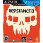 Resistance 3 - Ps3 - Ótimo Estado - Frete 12,00