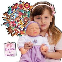 Boneca Baby Aninha - Fala 4 Frases - Adijomar Brinquedos