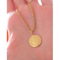 Colar E Pingente Em Ouro Amarelo 18k-750