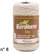 30 Rolos - Barbante Ecológico Cru N8 76m Euroroma Gritty