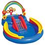 Piscina Com Escorregador Playcenter Inflável + Bomba 110v