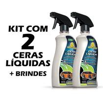 2 Ceras Líquidas Autoshine 2 Em 1 Limpa E Encera Carro 500ml