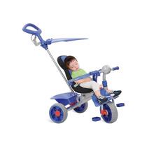 Triciclo Smart Com Haste Comfort Azul Bandeirante
