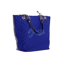 Bolsa Guess Grande Azul Royal Cetim Bordada Paetê Original