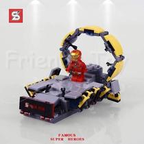 Homem De Ferro Set Similar Lego Famous Super Heroes 217pçs