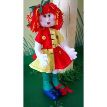 Boneca Pano Artesanal Emilia 50cm
