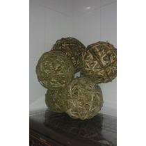 3 Bolas De Cipó- Tam, Grande .artesanato