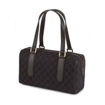 Bolsa Gucci Boston Em Tecido E Couro Marrom 100% Original
