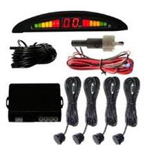 Sensor De Estacionamento Ré Para Carro 4 Sensores Preto