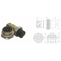 Conector Mike 8 Vias Macho E Fema