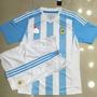 Camisa Argentina Com Shorts Pronto Entra