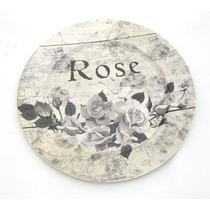 Sousplat De Metal Rose