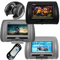 Encosto Cabeça Com Leitor Dvd Sony + Fone E Joystick Sem Fio
