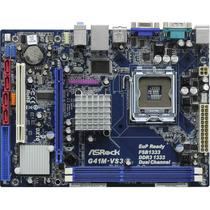 Placa Mae Asrock G41m-vs3 775 Ddr3 Onboard Intel E Garantia!