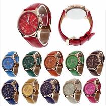 Promoção Relógio Feminino Geneva + Brinde Á Pronta Entrega