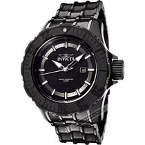 Relógio Invicta Masculino Prata Preto Laranja Aço Original