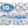 10kg Seixo Branco, Pedras Para Jardins, Decoração, Vasos