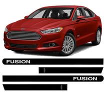 Friso Lateral - Acabamento Externo Fusion 12 13 4p Kit 4pcs