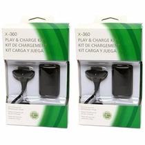 Kit 2 Baterias Carregador P/ Controle Xbox, Lacrados Com Nf