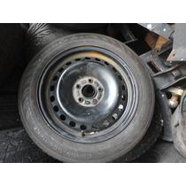 Roda De Aço Do Focus 5x108 R$250,00 Com Pneu 195 65 16 Usad