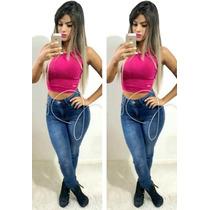 Calça Jeans Premium Hot Pant Pants Cintura Alta Anitta Cnsc