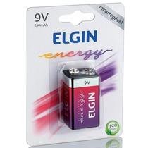 Kit 10 Baterias 9v 250mah Recarregável Elgin Origi Revenda