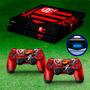 Skin Playstation 4 Capa Ps4 Adesivo Flamengo Futebol