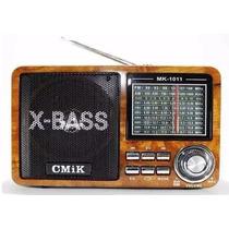 Caixa Som Portátil Mp3 Usb Cartão Sd Pen Drive Rádio Am/fm
