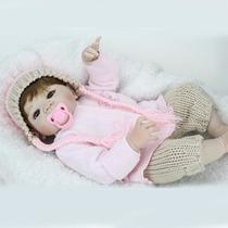 Boneca Bebe Reborn Toda De Silicone 55 Cm