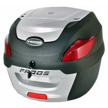Bau Moto Bauleto 41 Litros Proos Preto E Prata Frete Grátis